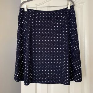 TALBOTS Pullover A-line Skirt LP Size Polka Dot